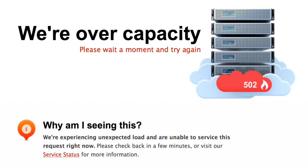 hosting over capacity