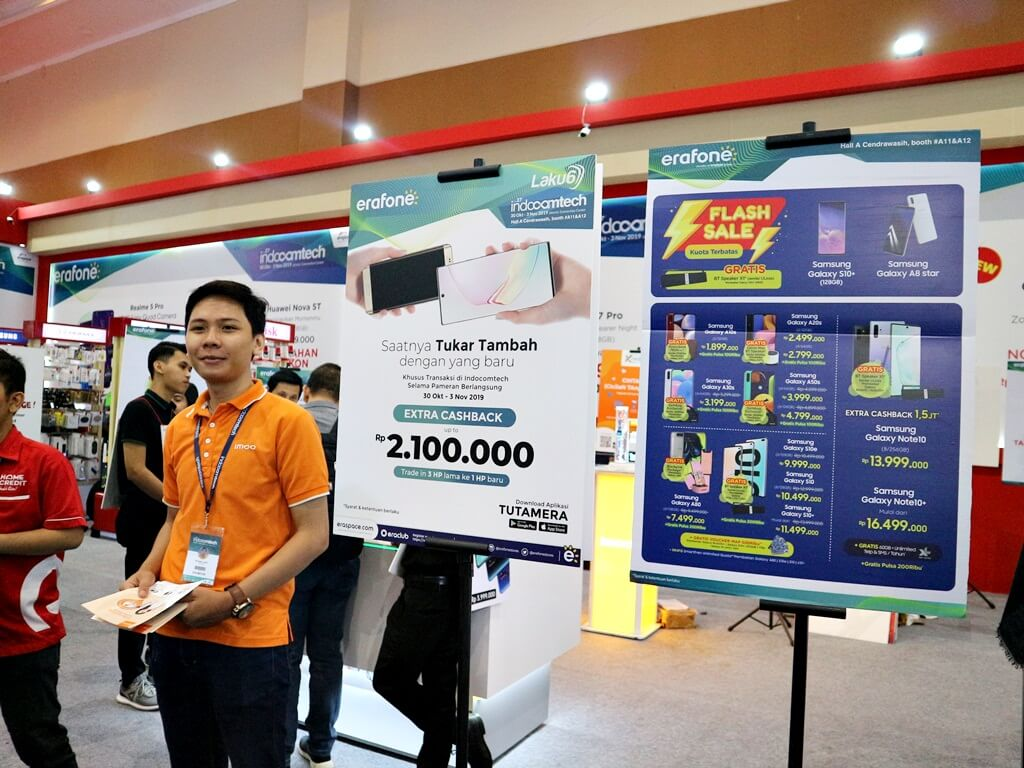Booth Erafone in Indocomtech 2019