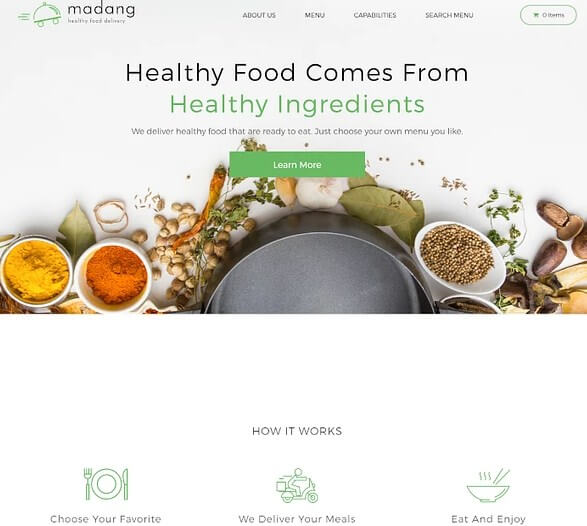 Template WordPress Food Delivery