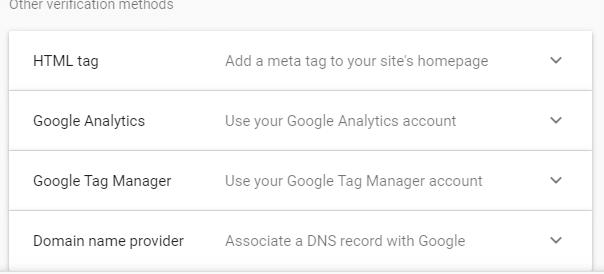 Metode Verifikasi Google Search Console