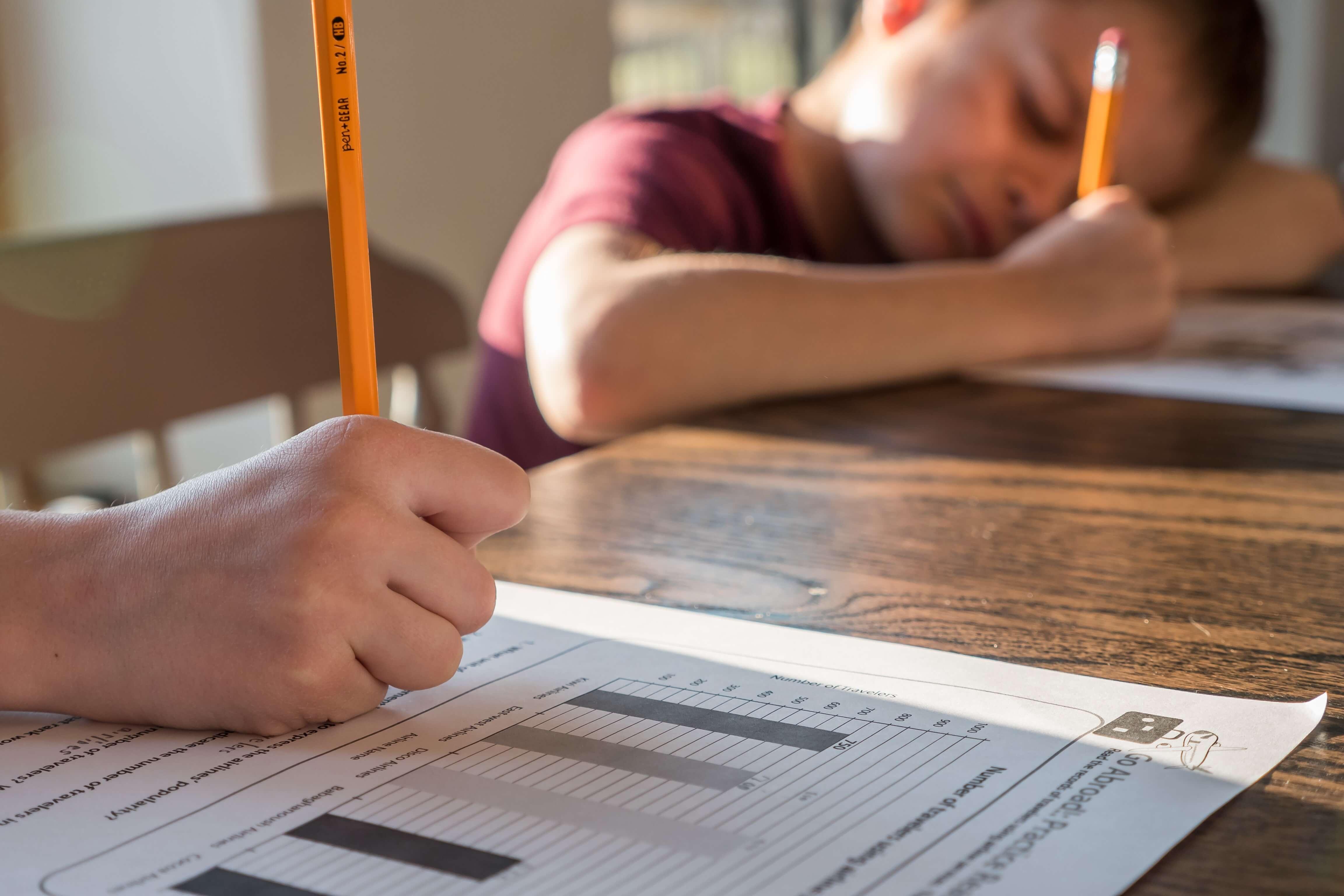 siswa stress belajar di rumah