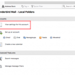 Cara Setting Email Cloud Mail di Thunderbird