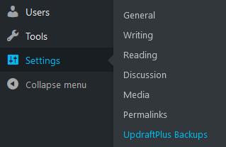 Gambar Setting UpdraftPlus