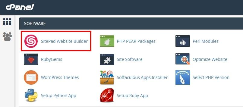 cara menggunakan site builder
