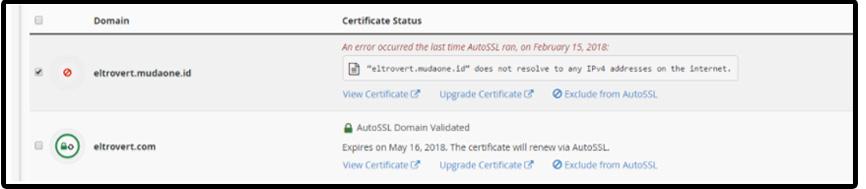 Aktivasi SSL