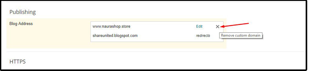 menghapus domain