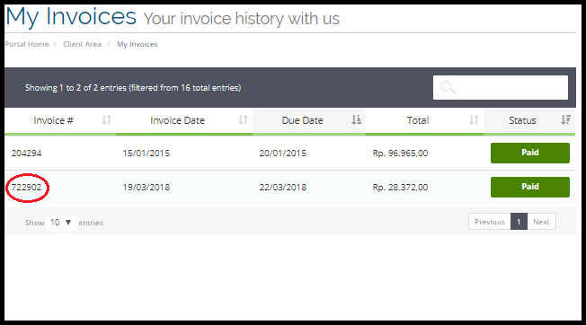 Download Invoice