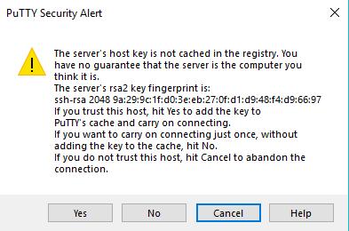 Mengakses SSH