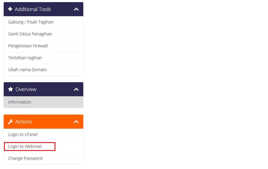 Login Webmail Hosting