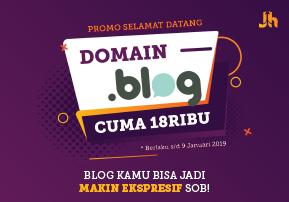 Halaman PROMO Domain BLOG 18RIBUAN Done Utama Web