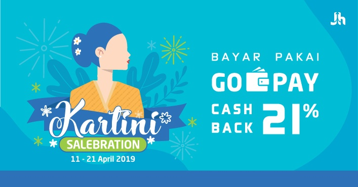 Promo Cashback 21 Go Pay Pay Day Kartini Celebration Jagoan Hosting