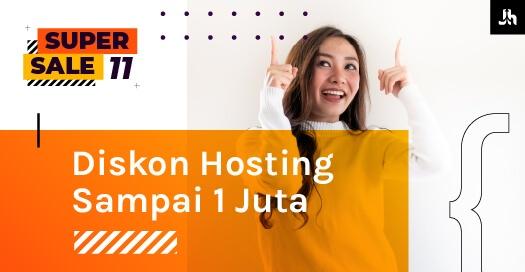 Diskon Hosting 1 Juta Halaman Promo