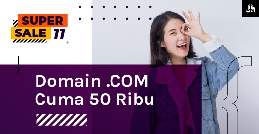 Domain COM 50RIBU Halaman Promo